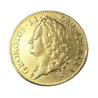 1745年 24K アンティークコイン ジョージ2世画像
