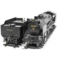 ライブスチーム P51 327 1番ゲージ Gゲージ 蒸気機関車 線路付 画像