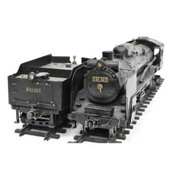 アスターホビー ライブスチーム 1番ゲージ Gゲージ P51 327 蒸気機関車 鉄道模型 線路付 画像