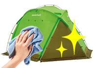 キャンプ用品のメンテナンス画像