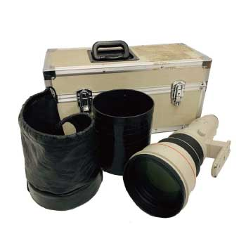 Canon EF 600mm 1:4 L ULTRASONIC レンズフード ハードケース付き 画像