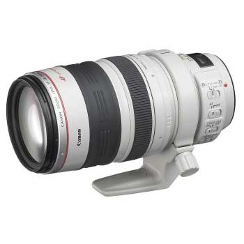一眼レフカメラ用 望遠ズームレンズ EF28-300mm F3.5-5.6L IS USM ケース・レンズフード付 画像
