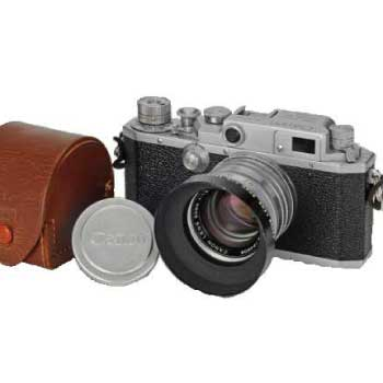 クラシック キヤノン Canon レンジファインダー カメラⅡD改 中古品 画像