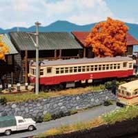 Nゲージ 「秋の踏切風景」 ジオラマ 完成品 ストラクチャー 画像