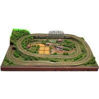鉄道模型 田舎風景 Zゲージ 完成ジオラマ画像