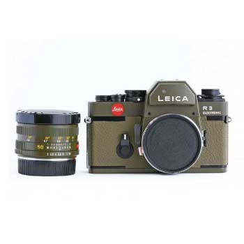 Leica R3 オリーブ ズミクロンR50mm F2 付 画像
