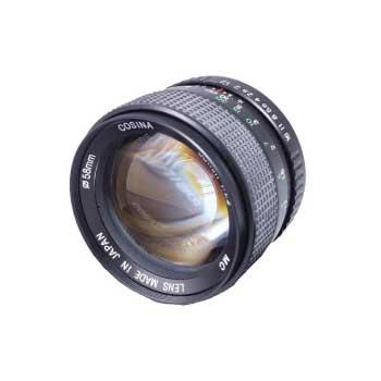 COSINA MC 55mm 1:1.2 MF 単焦点 PENTAX Kマウント キャップ付き 画像