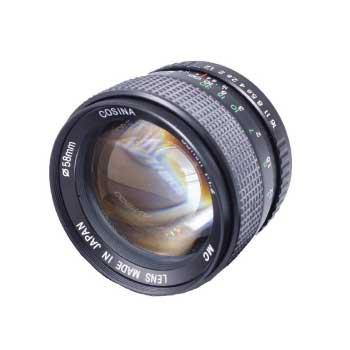 コシナ 一眼カメラレンズ MC 55mm 1:1.2 MF 単焦点 PENTAX ペンタックス Kマウント キャップ付 画像
