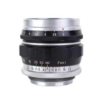 フジノン レンズ Fuji photo film 50mm F2 5cm leica ライカ Lマウント レンズ 画像