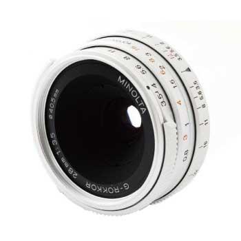 MINOLTA G-ROKKOR 28mm F3.5 ミノルタ Lマウントレンズ 画像
