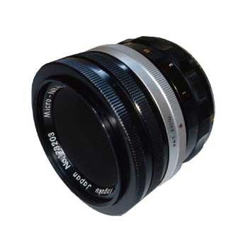 Nikon ニコン Micro-Nikkor 5.5cm f3.5マクロレンズ 純正前後キャップ フィルター付き 画像