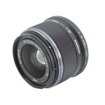 Olympus オリンパス M.Zuiko Digital 25mm 1:1.8 F1.8 ブラックレンズ 画像