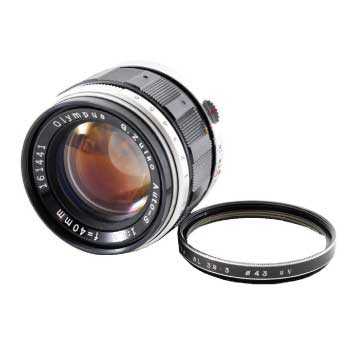 OLYMPUS G.Zuiko Auto-S 40mm F1.4 オリンパス ペン F FT FV PEN-F マニュアル 単焦点 レンズ 画像