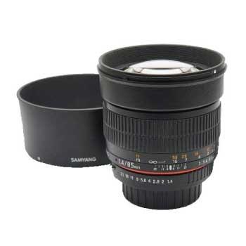 サムヤン SAMYANG 85mm F1.4 AS IF UMC ペンタックス用 MF中望遠レンズ 画像