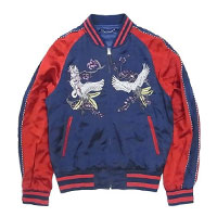 LOUIS VUITTON ルイヴィトン 16SS 鶴刺繍 スカジャン画像