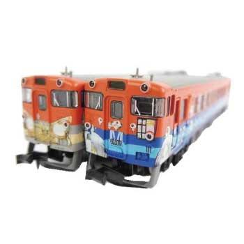 キハ40-2095 更新車「目玉おやじ列車」キハ40-2115 更新車「ねずみ男列車」 画像