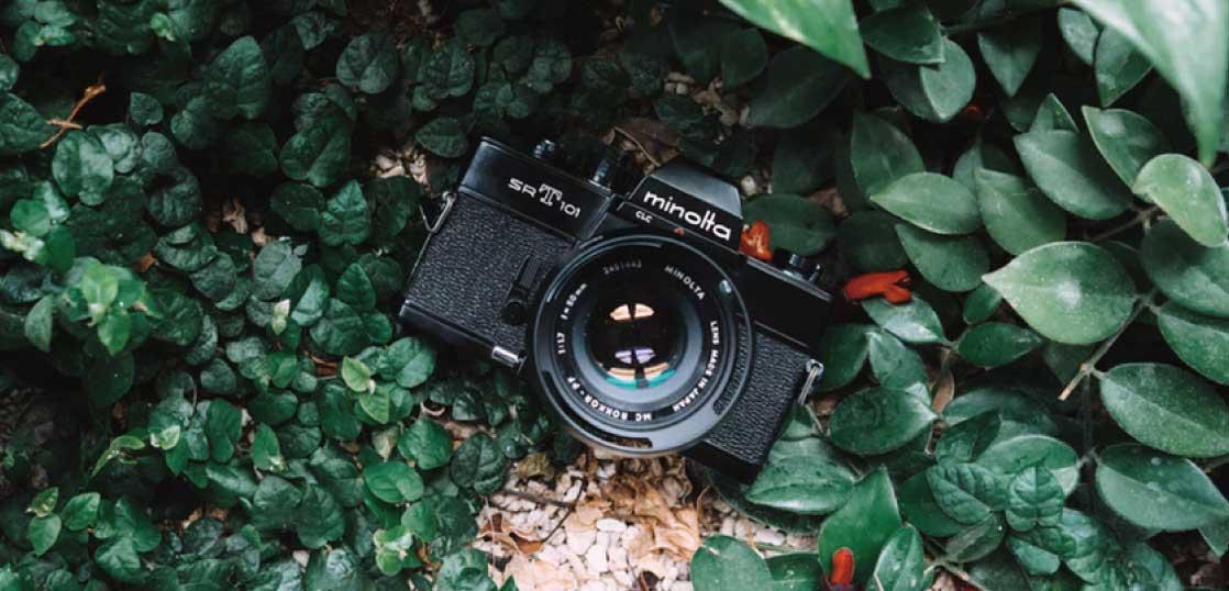 ミノルタ(MINOLTA) SR-1 ブラックボディ/レンズ AUTO ROKKOR-PF 55mm 1:1.8 中古品 画像