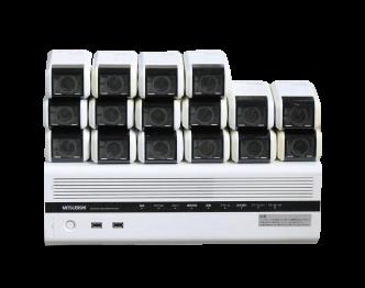 三菱 防犯カメラ NC-3000A 16台 レコーダー NR-3600 セット 中古品 画像