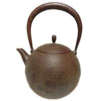 南部鉄器 鈴木盛久 日の丸形鐵瓶 鉄瓶 画像
