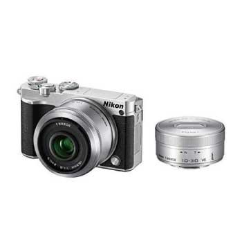 Nikon1 J5 ダブルレンズキット シルバー 画像