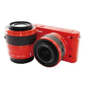 Nikon 1 J2 オレンジ ダブルレンズキット SDカード付 画像