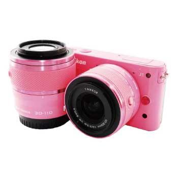 Nikon 1 J1 ピンク ダブルレンズキット SDカード付 画像