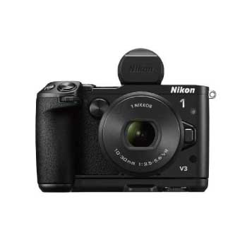 ミラーレス一眼レフカメラ Nikon 1 V3 プレミアムキット ブラック 画像