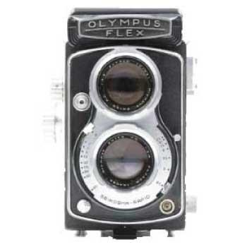 OLYMPUS オリンパス OLYMPUS FLEX A2.8 二眼レフカメラ 中古品 画像