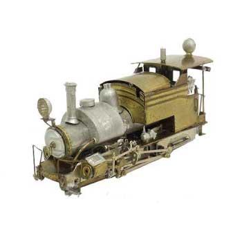 蒸気機関 鉄道模型 ゴールドカラー画像