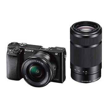 α6000 ダブルズームレンズキット E PZ 16-50mm F3.5-5.6 OSS + E 55-210mm F4.5-6.3 OSS ブラック ILCE-6000Y B 画像