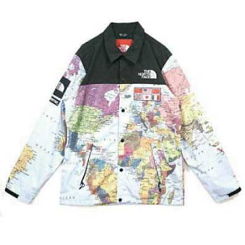 14SS Supreme Expedition Coaches Jacket Map画像