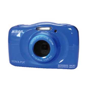 ニコン COOLPIX W100 防水 デジタルカメラ 4.1-12.3mm ブルー 画像