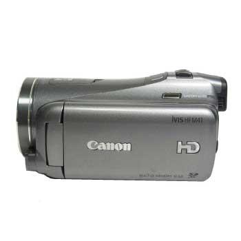 Canon iVIS HF M41 内蔵メモリー64GB ダブルスロット HD ビデオカメラ 純正バッテリー2本付き 付属品多数 画像