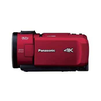 パナソニック デジタルビデオカメラ 4K 64GB HC-VX1M-R レッド 画像
