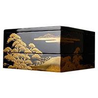 輪島塗 松島蒔絵 重箱 二段重 画像