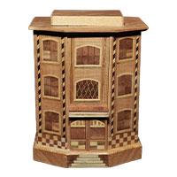 寄木細工 からくり貯金箱 画像