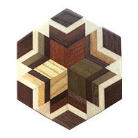 寄木細工 コースター 5枚セット画像